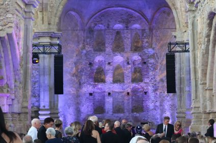 Visitors pack the Great Stone Church at this year's Romance of the Mission Gala. Photo: Alex Groves.
