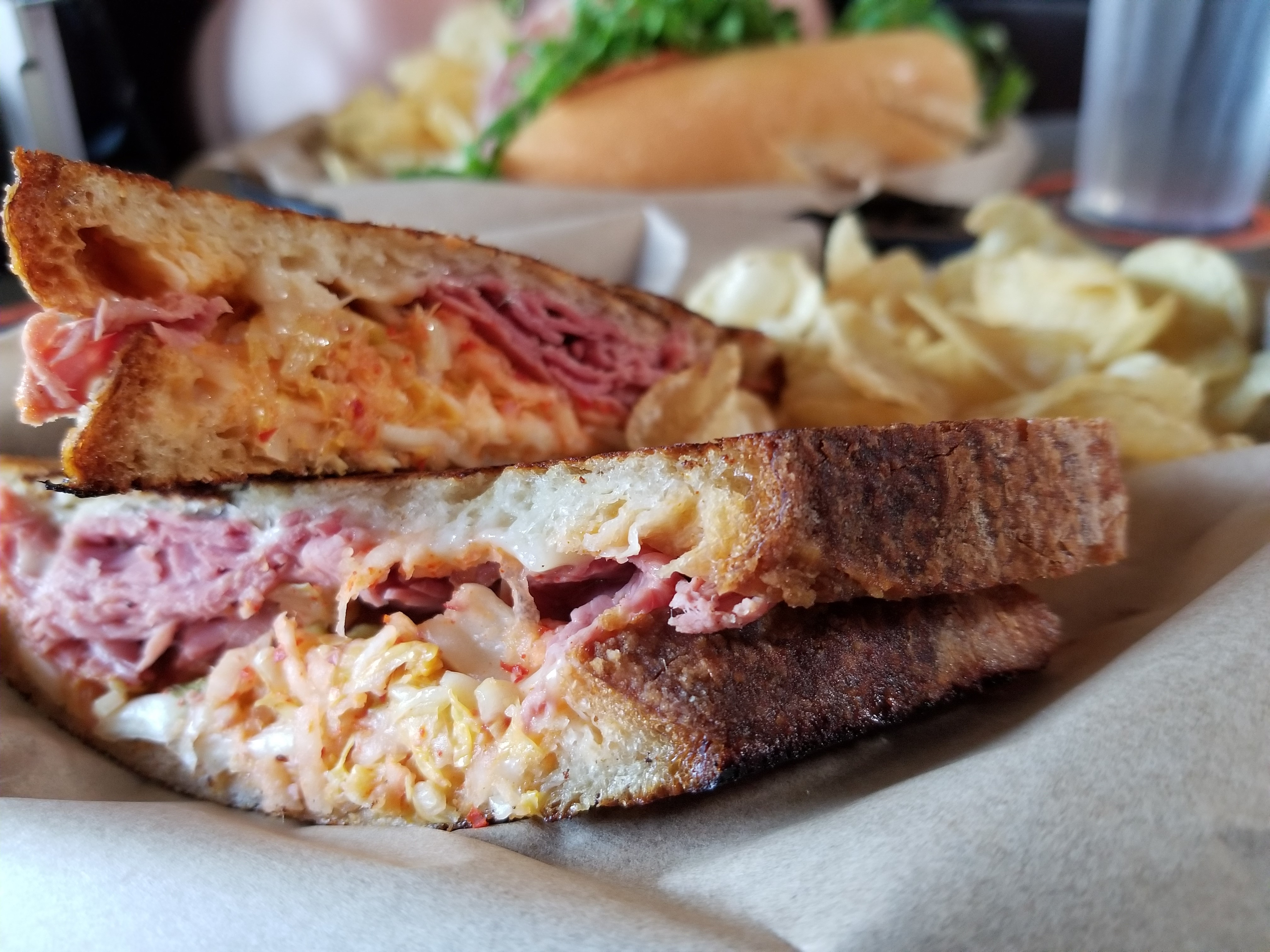 The Korean Reuben at Docent Brewing is one of many creative sandwich offerings at Docent Brewing in San Juan Capistrano. Photo: Alex Groves