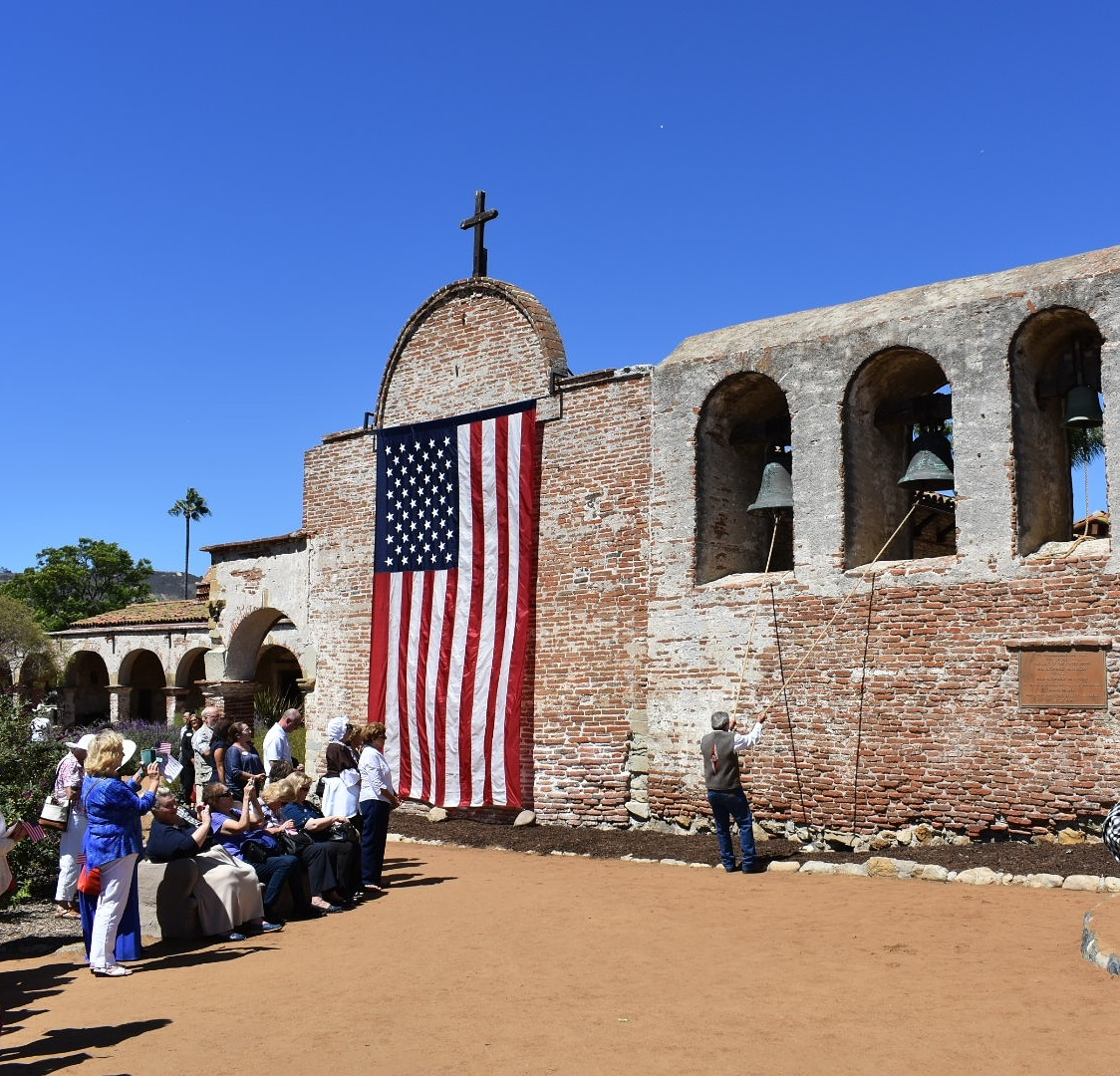 Rafael Gutierrez of Mission San Juan Capistrano rings the Mission's bells at 1 p.m. Monday, Sept. 17, in celebration of U.S. Constitution Day. Photo: Alex Groves