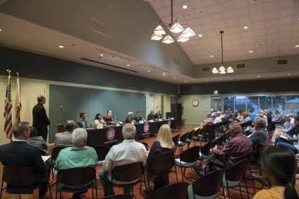Roughly 100 people attended a forum put on by the San Juan Capistrano Chamber of Commerce on Thursday, Oct. 18. Photo: Alex Groves