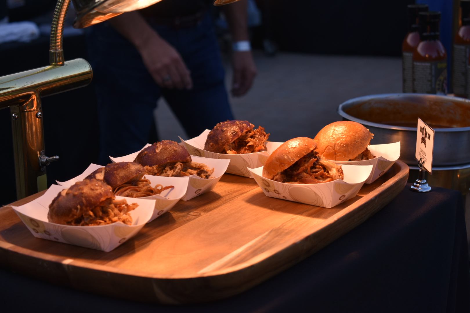 Carolina barbecue pulled pork sliders are ready to be eaten at this year's The Vintage Food & Wine Festival.