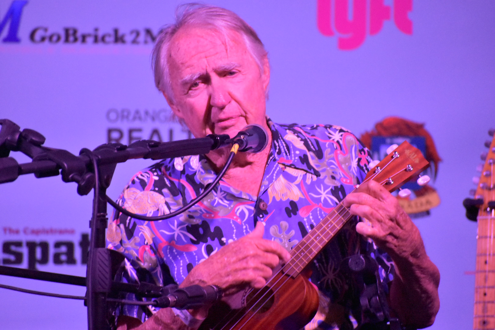 Tom Morey, a ukulele player and inventor of the Boogie Board, made a special guest appearance at The Vintage Food & Wine Festival on Saturday, Oct. 6. Photo: Alex Groves