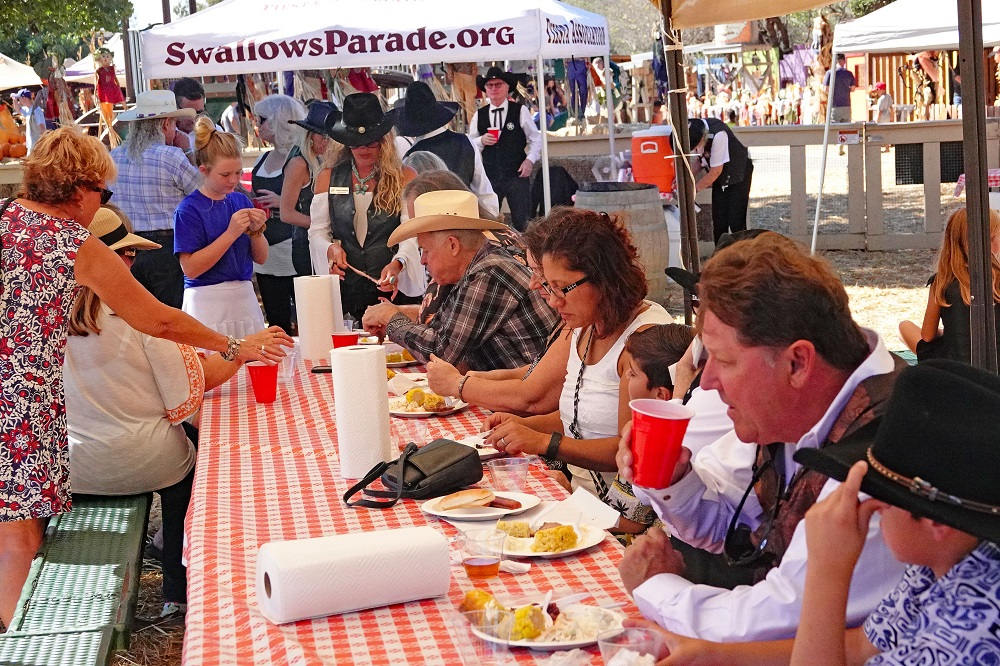 Guests enjoy lunch at a 'Farewell to the Swallows' barbecue held Sunday, Oct. 20, at Zoomars in San Juan Capistrano. Photo: Fred Swegles