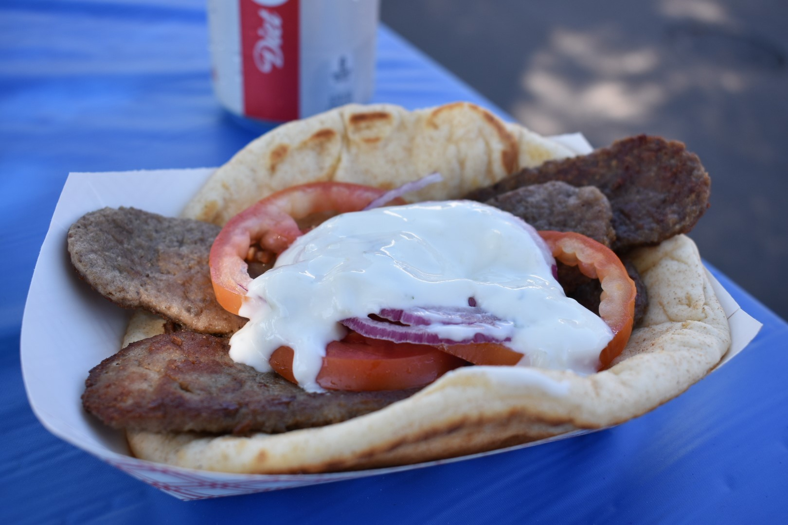This gyro was among the many culinary offerings at the San Juan Capistrano Greek Festival on Saturday, Sept. 29. Photo: Alex Groves