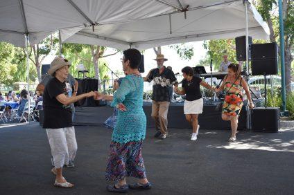 Visitors dance to Greek music at the annual San Juan Capistrano Greek Festival on Saturday, Sept. 29. Photo: Alex Groves