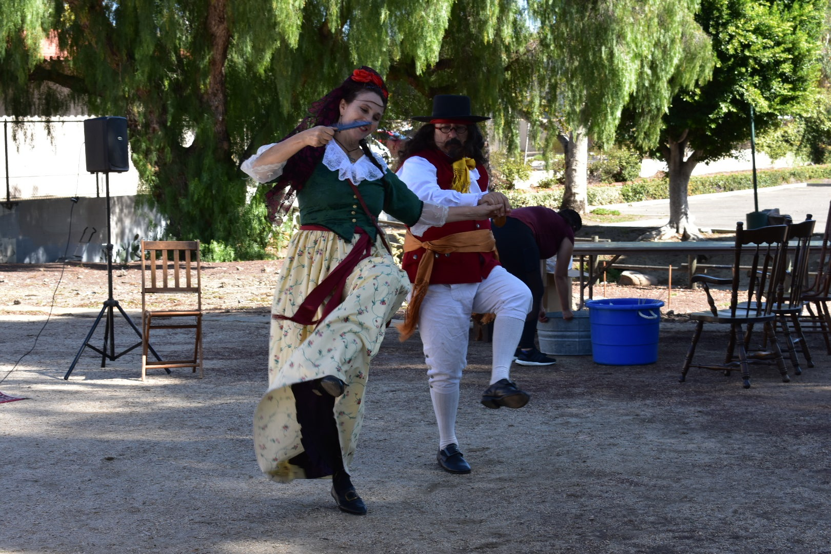 """Pirates"" enjoy some dancing at the Blas Aguilar Adobe on Nov. 3. Photo: Alex Groves"