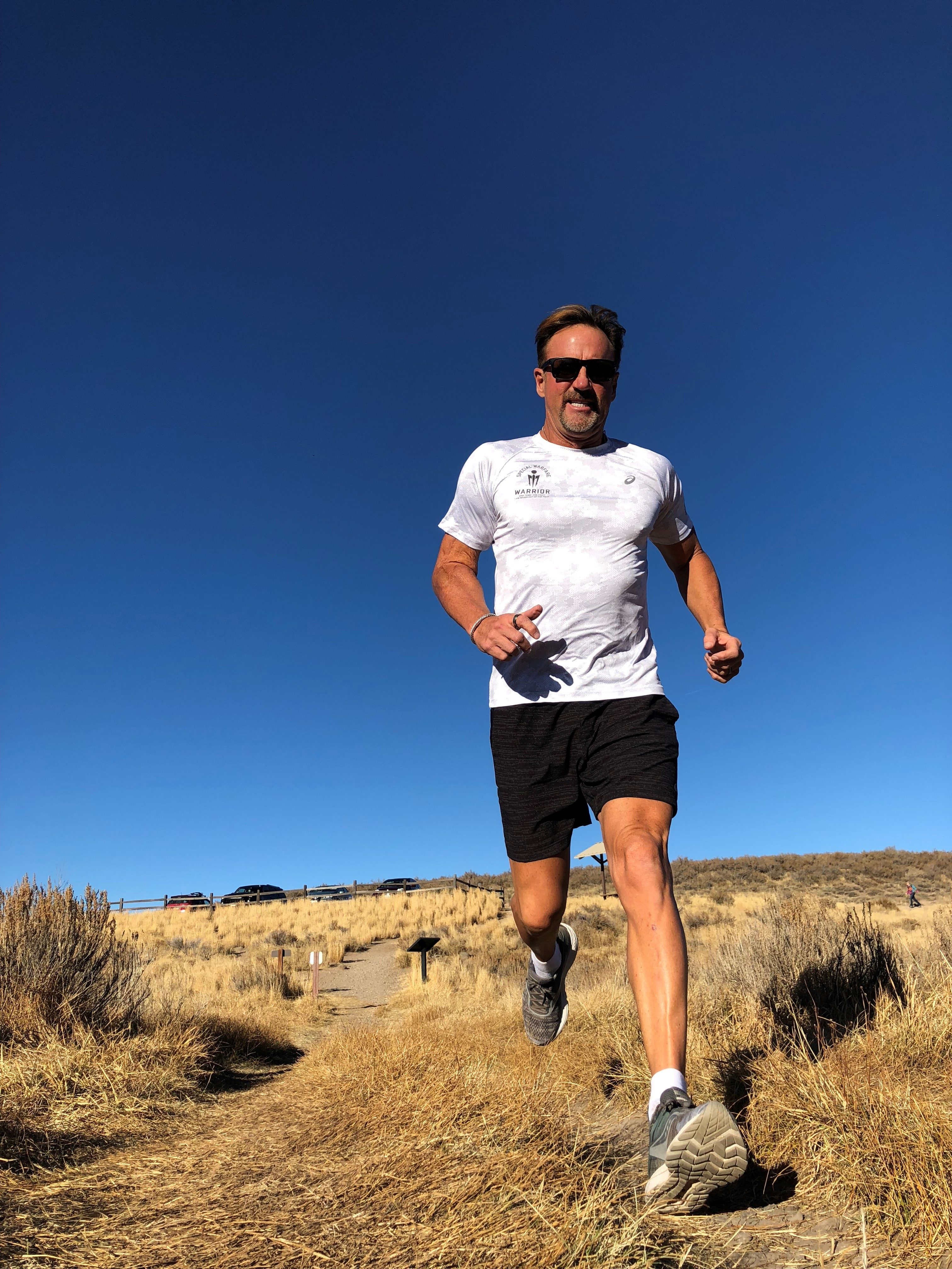 Andy Wirth, who formed Team Special Warfare Warrior, trains for an upcoming race. Wirth is participating in one sporting event each month to raise funds for veterans' groups.
