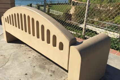 The McStay Memorial Bench in North Beach. Photo: Tom Blake