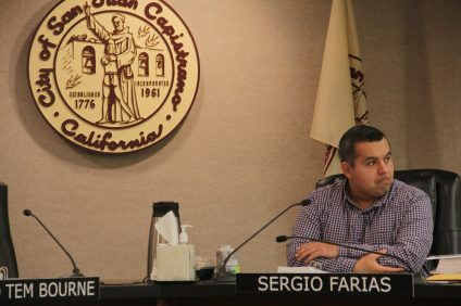 Councilmember Sergio Farias listens to a presentation during the City Council's Jan. 15 meeting.  Photo: Shawn Raymundo