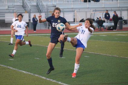 Dana Hills San Juan Hills girls soccer. Photo: Zach Cavanagh