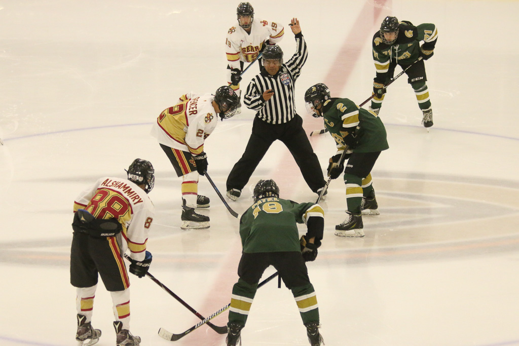 The start of the third period, JSerra against Damien on Friday, Feb. 8. Photo: Eric Heinz