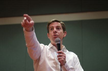 Rep. Mike Levin of California's 49th Congressional District, conducts a town hall meeting at the San Juan Capistrano Community Center on Saturday, Feb. 23. During the town hall, which was his second in a series of monthly engagements he intends to hold throughout the district, outlined his goals while in office and touched on several key issues including homeless veterans and getting the spent nuclear fuel out of SONGS. Photo: Eric Heinz