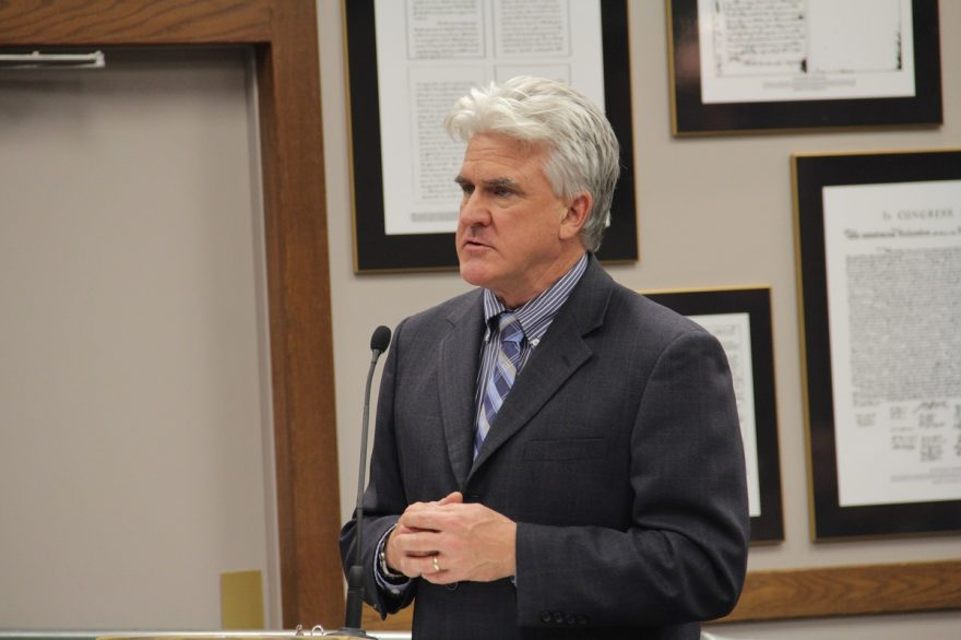 Santa Margarita Water District General Manager Dan Ferons answers questions from councilmembers during a recent City Council meeting. Photo: Shawn Raymundo