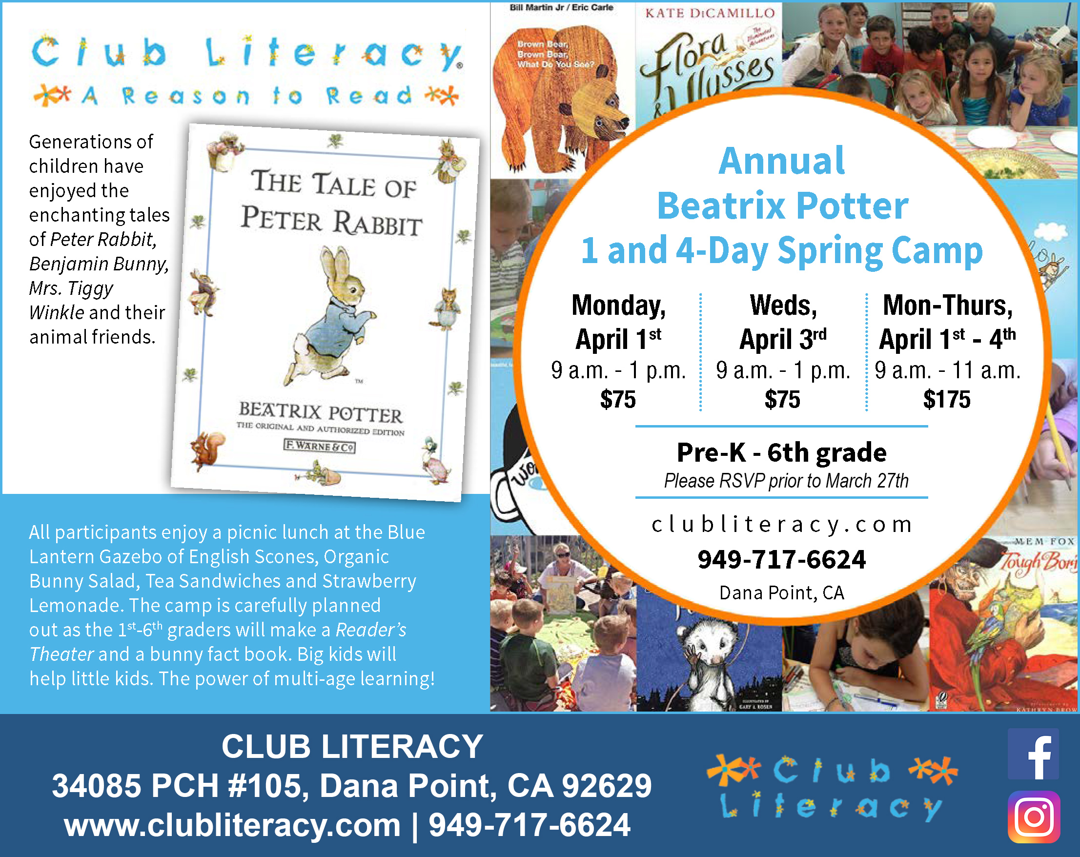 Club-Literacy-Beatrix-Potter-1-Day-Camp-2019---San-Clemente
