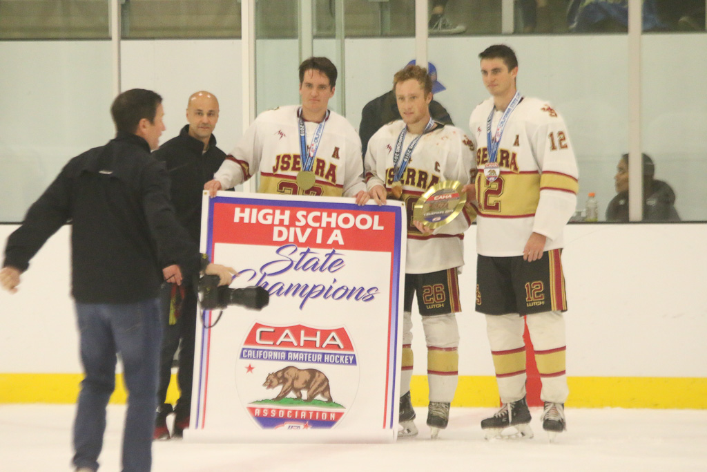 JSerra defeats Santa Margarita, 2-1 in overtime, to win CAHA State Championship on Sunday, March 3 at Great Park Ice in Irvine. Photo: Eric Heinz