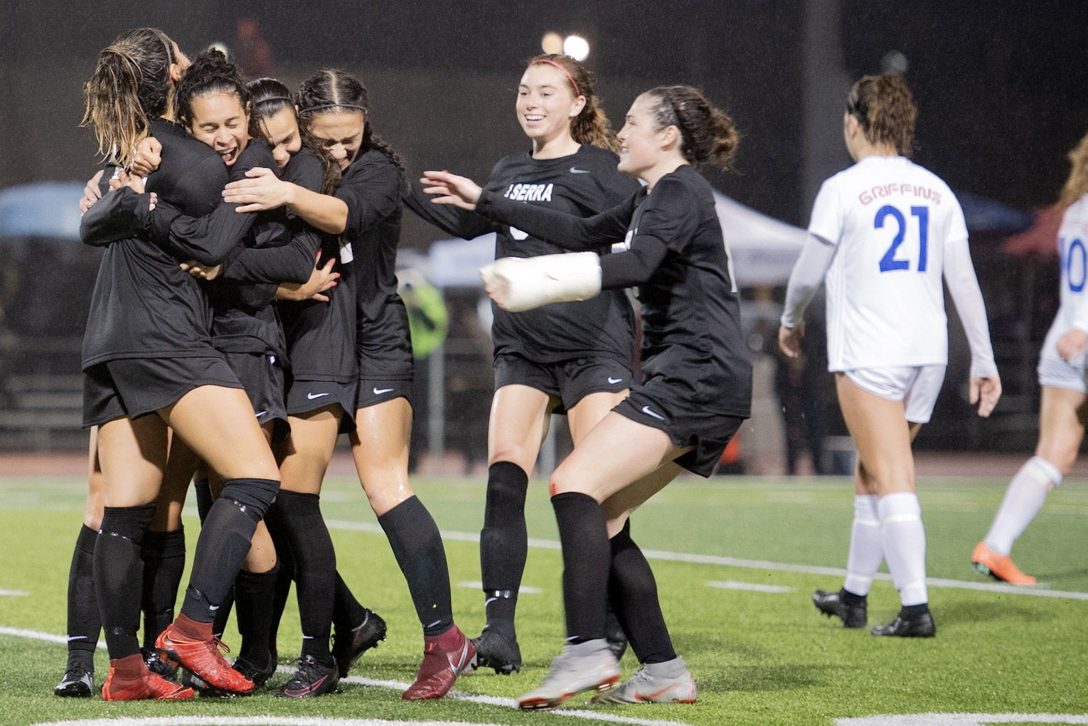 JSerra girls soccer won its third straight CIF-SS championship and completed the treble with Trinity League, CIF-SS and CIF SoCal Regional titles. Photo: David Williams