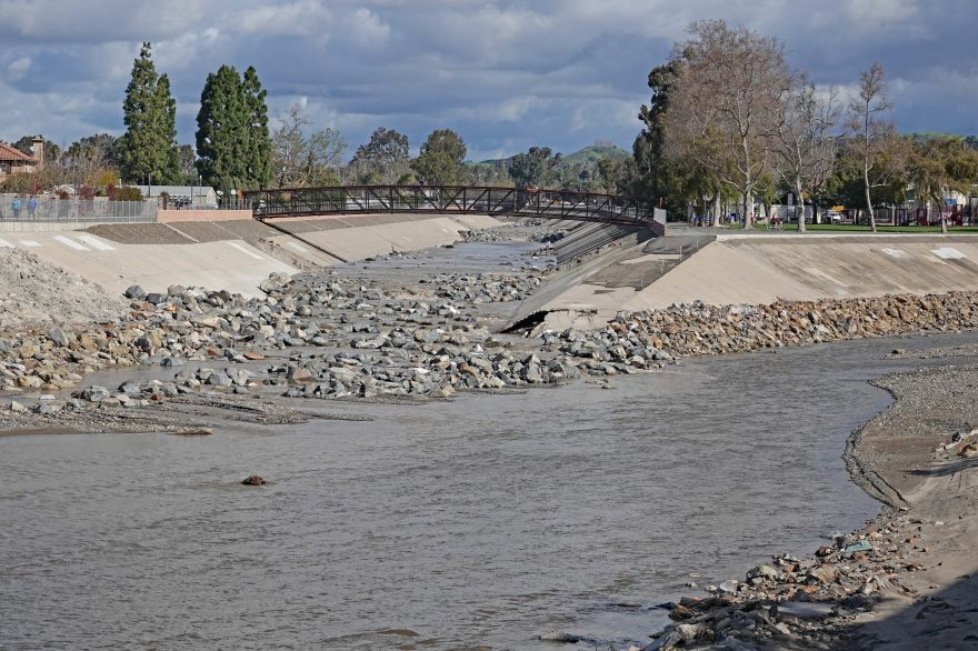 Santa Margarita Water District is proposing to build inflatable dams on the river bottom near the confluence of Trabuco Creek and San Juan Creek, pictured here, to capture some urban runoff and use it to recharge and reinvigorate San Juan Capistrano's underground water basin. Photo: Fred Swegles