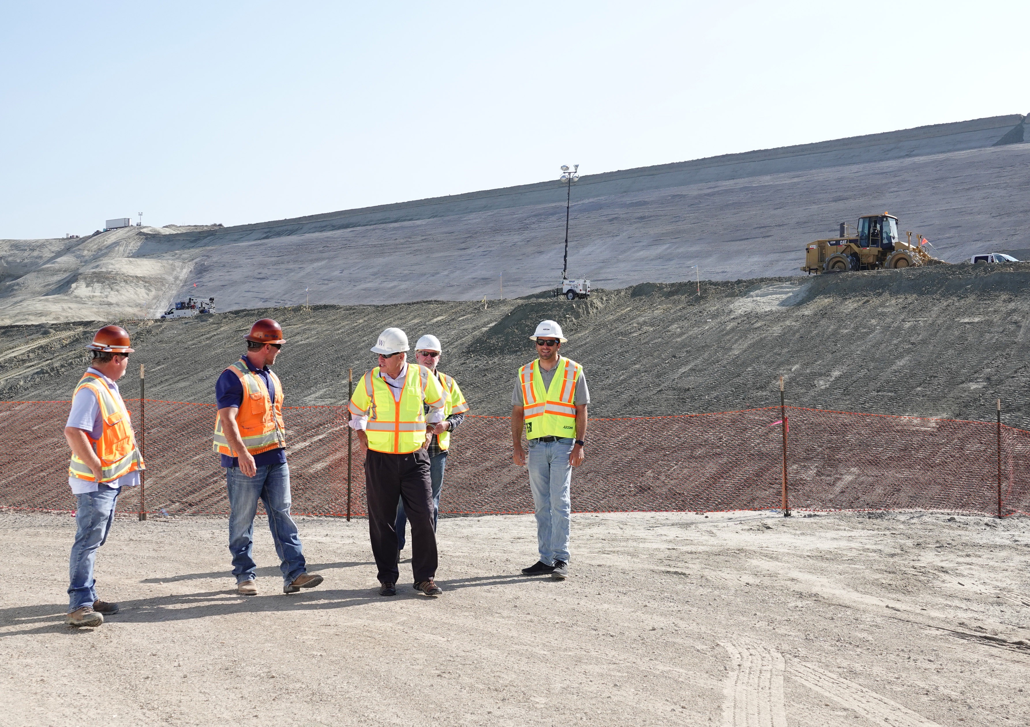 In San Clemente's backyard, directly behind Talega, the wall for a dam rises up to contain a reservoir that will be able to store 1.6 billion gallons of recycled water. Photo: Fred Swegles