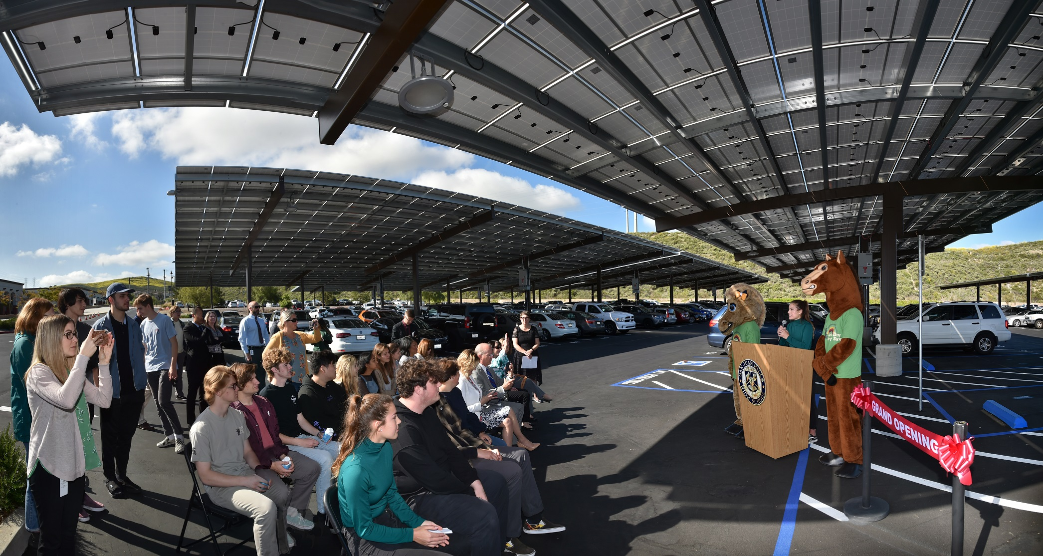 Solar dedication at San Juan Hills High School