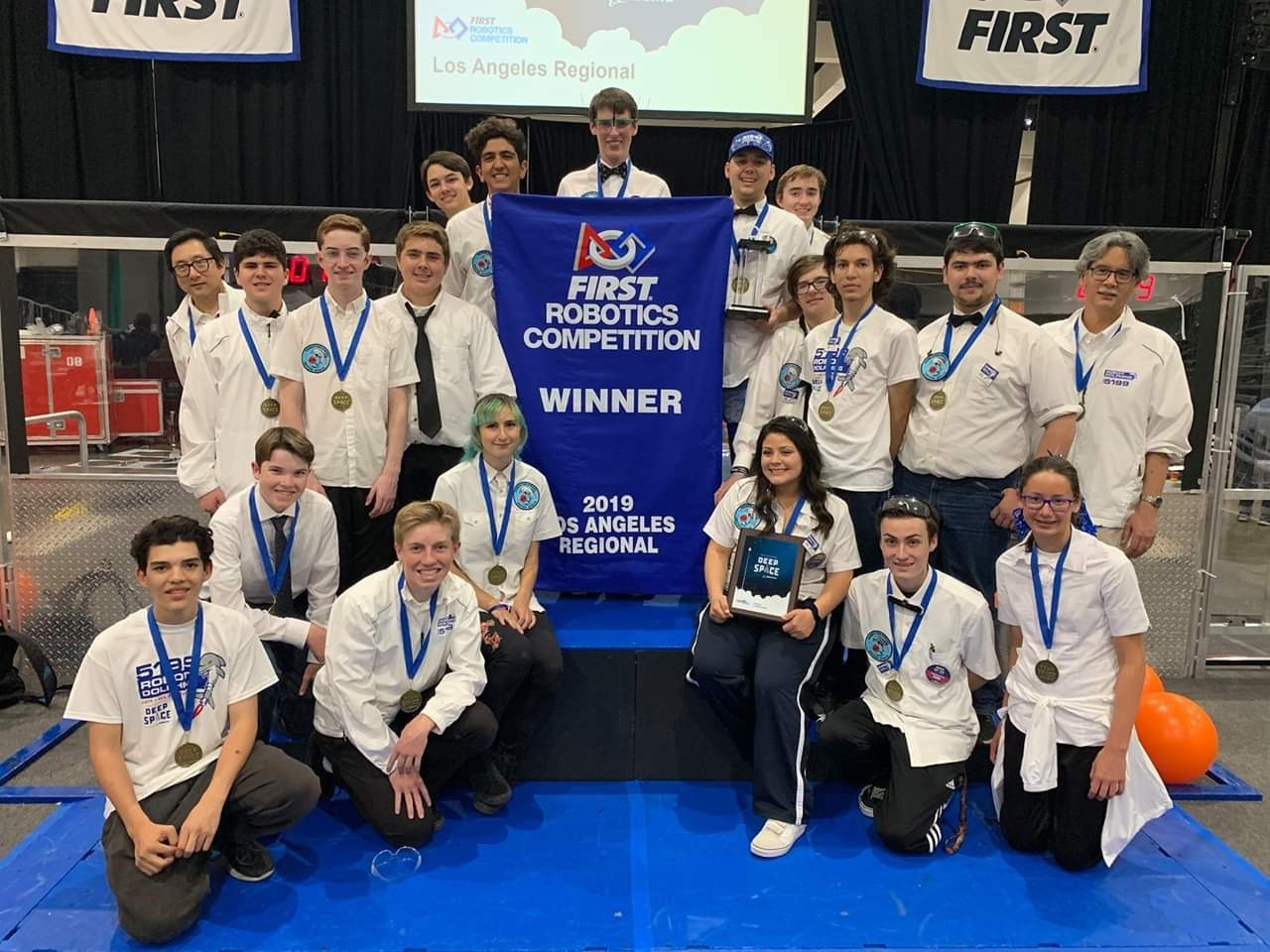 Capistrano Unified's Districtwide Robotics Team 5199 (Robot Dolphins from Outer Space) recently qualified for the Robotics World Championship in Houston, Texas, along with winning first place at the Los Angeles Regionals FIRST Robotics Competition. Photo: Courtesy of Capistrano Unified School District