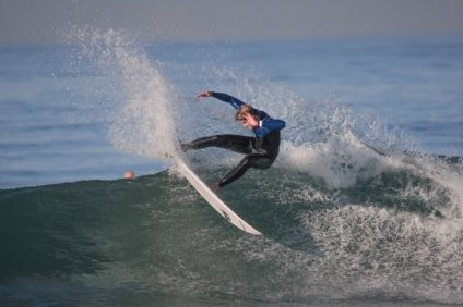 St. Margaret's junior Jake Vandenburg took the Scholastic Surf Series Orange County men's shortboard season title and finished fourth at the SSS State Championships on April 15. Photo: Courtesy