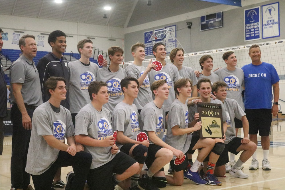 Saddleback Valley Christian boys volleyball wins fifth CIF-SS title in seven seasons. Photo: Zach Cavanagh