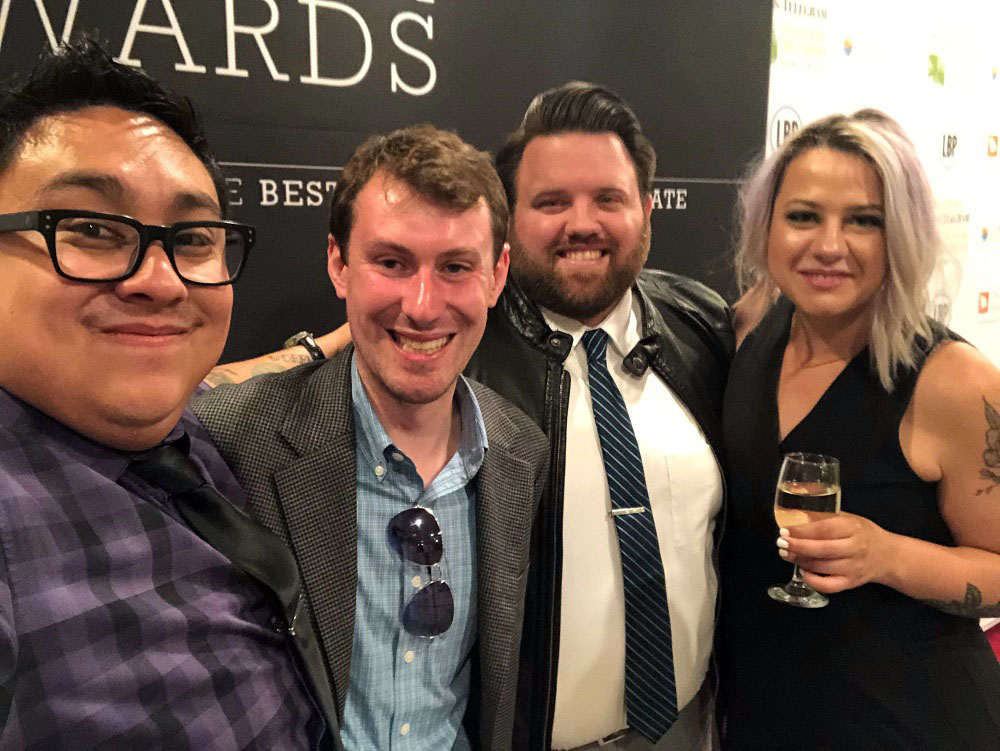 The Picket Fence Media team celebrates at the California Newspaper Publishers Association awards gala on May 4 in Long Beach. Photo: Shawn Raymundo