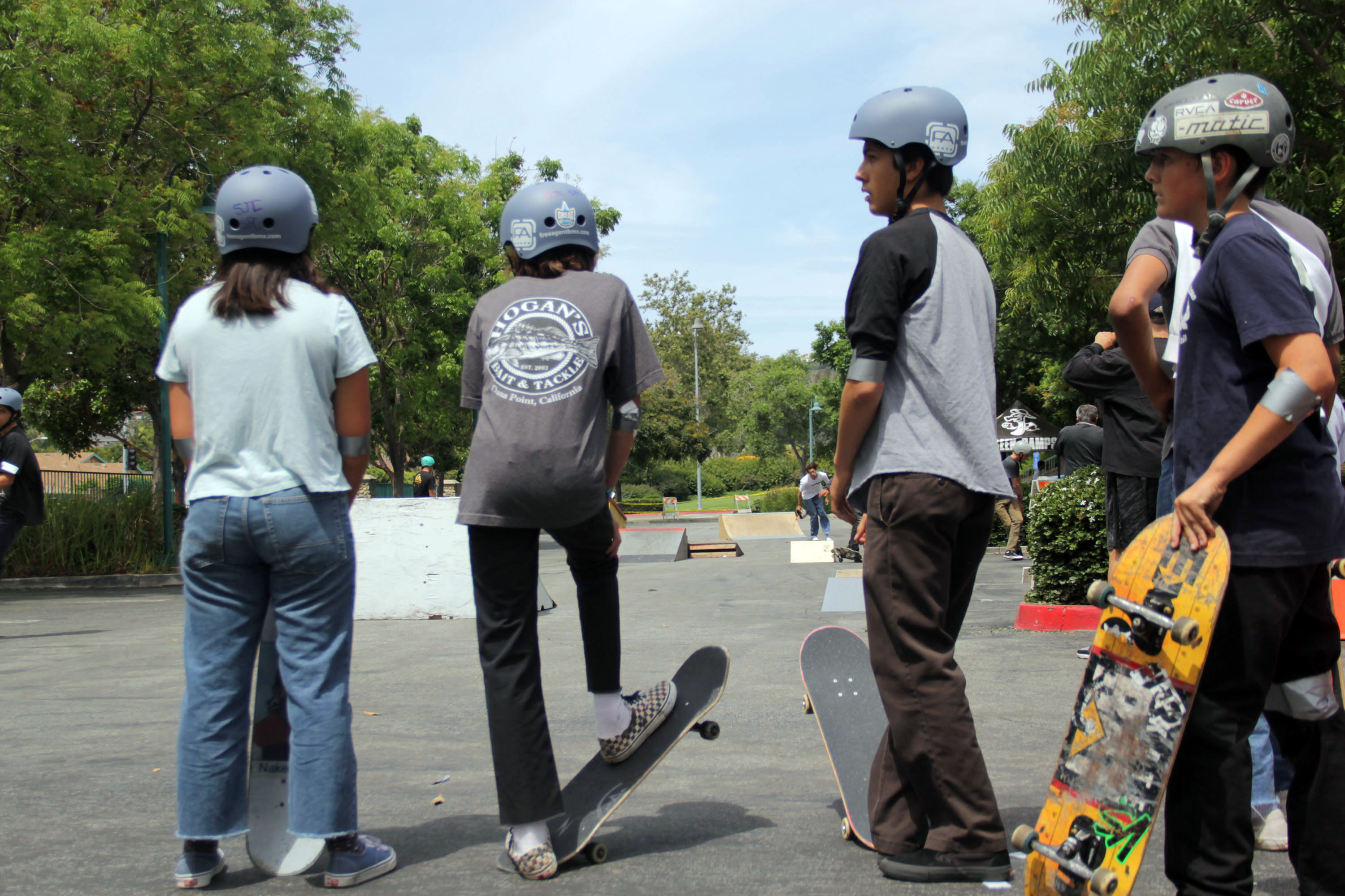 Dozens of skateboarders throughout South County participate in the Spring 2019 Skate Jam at the San Juan Capistrano Community Center on Saturday, May 18. Photo: Shawn Raymundo
