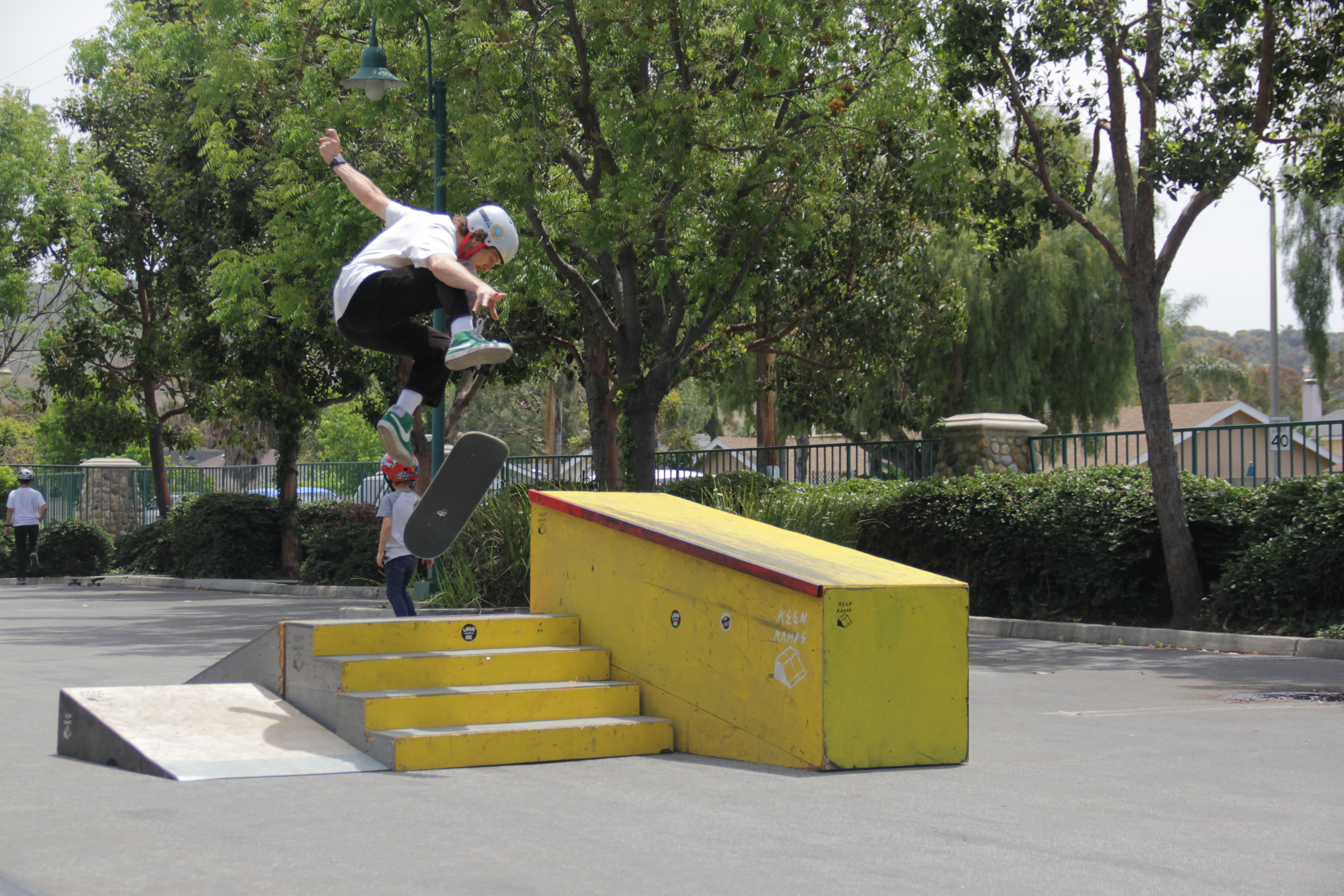 Chance Moreno, a 25-year-old Rancho Mission Viejo resident, gets some air while participating in the Spring 2019 Skate Jam at the San Juan Capistrano Community Center on Saturday, May 18. Photo: Shawn Raymundo