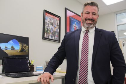 Esencia K-8 Principal Josh Wellikson considers the first year of the school a success and is looking forward to expansion of the middle school. Photo: Shawn Raymundo