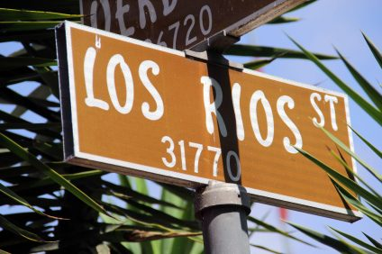 Los Rios Street sign in San Juan's downtown district. Photo: Shawn Raymundo
