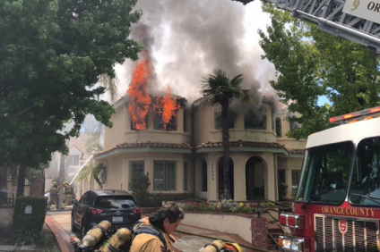 Orange County Fire Authority crews respond to a structure fire on the 27000 block of Horseshoe Bend in San Juan Capistrano on Sunday, June 9. Photo: Courtesy of OCFA