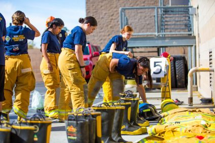 Orange County Fire Authority hosted its first-ever Girls Empowerment Camp this past weekend in Irvine for more than 50 teenagers to learn all aspects of a fire service career. Photo: Courtesy of OCFA