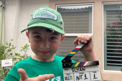 Ryan Hickman, a 9-year-old San Juan Capistrano resident who started his own recycling company, Ryan's Recycling, in 2012, was recently appointed to sit on the Kids Board of Directors for the clothing-subscription company KIDBOX. Photo: Courtesy of Megan Wolborsky