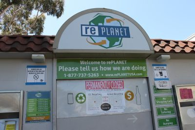 RePlanet, California's largest redemption recycling operator, has closed all of its locations in San Clemente and throughout the state. Photo: Cari Hachmann