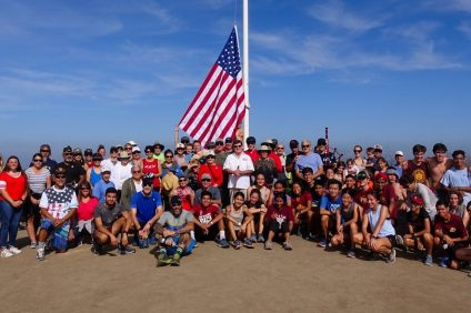 A Flag Rally group poses for a photo after replacing the American flag on Patriot Hill in San Juan Capistrano on June 29, days before the nation celebrates Independence Day. Photo: Courtesy of Tom Baker Photography