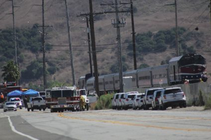 An Amtrak train collided with a forklift that was being operated by a 50-year-old construction worker Thursday, Aug. 15. Photo: Shawn Raymundo
