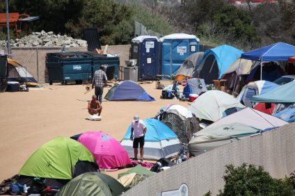 Homeless encampment